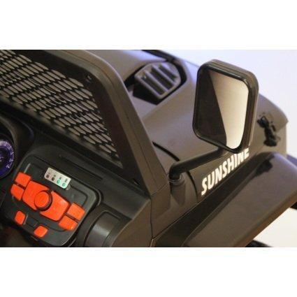Электромобиль Jeep T008TT черный (2х местный, полный привод, колеса резина, кресло кожа, пульт музыка)