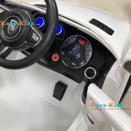 Электромобиль Мерседес М005МР белый (колеса резина, сиденье кожа, пульт, музыка)