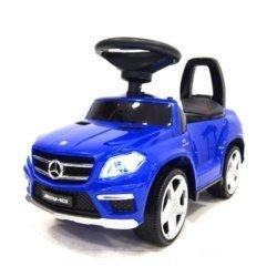 Толокар каталка Mercedes GL63 AMG - SXZ1578-E синий  (колеса резина, кресло кожа, музыка, свет)