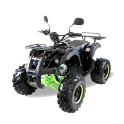 Подростковый квадроцикл бензиновый MOTAX ATV Grizlik Super LUX 125 cc черно-зеленый (электростартер, длинноходная подвеска, до 65 км/ч)